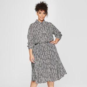 New polka dot convertible dress